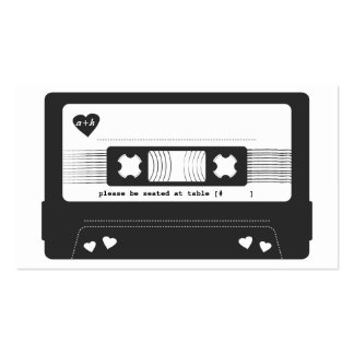 Mix Tape Escort Card Double-Sided Standard Business Cards (Pack Of 100)