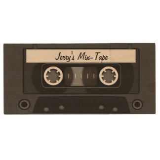 Mix Tape Personalised Black Wood USB 2.0 Flash Drive
