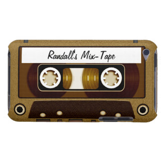 Mix Tape Personalized Gold iPod Touch Covers