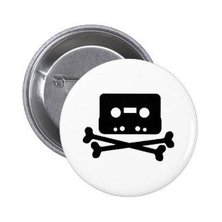 Mix Tape Pirate 6 Cm Round Badge