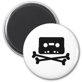 Mix Tape Pirate 6 Cm Round Magnet