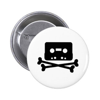 Mix Tape Pirate Pinback Buttons