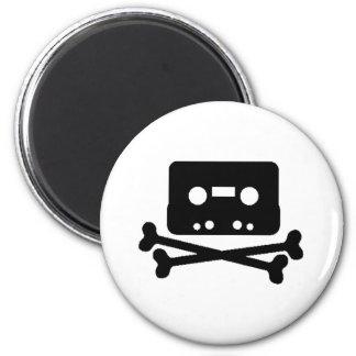 Mix Tape Pirate 6 Cm Round Magnet