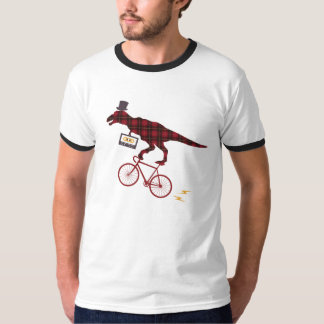 Mix Tape Plaid Dinosaur Cycling Tshirt