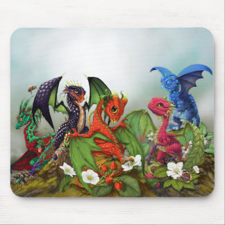 Mixed Berries Dragons mouse pad