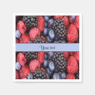 Mixed Berries Paper Napkins