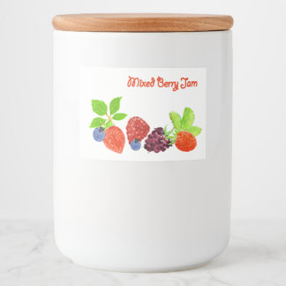 Mixed Berry Jam Canning Label