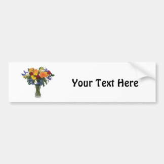 Mixed Bouquet of Tropical Colored Flowers Bumper Sticker