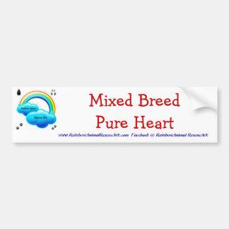 Mixed Breed Pure Heart Bumper Sticker