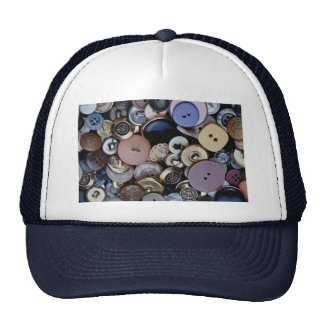 Mixed buttons mesh hat