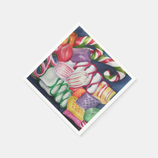 Mixed Christmas Candy Disposable Napkins