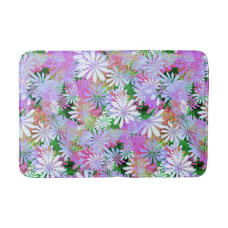 Mixed Color Digital Daisies Bath Mat