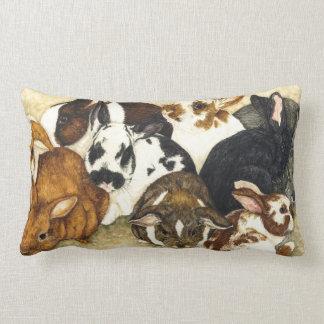 Mixed Company - Baby Rabbits Pillow