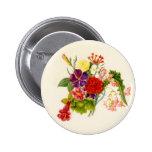 Mixed Flower Bouquet 6 Cm Round Badge
