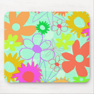 Mixed Flowers Mouse Pad