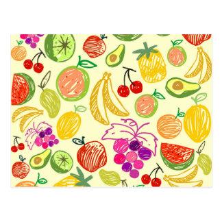 Mixed fruit postcard