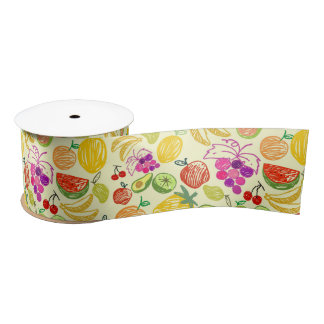 Mixed fruit ribbon satin ribbon