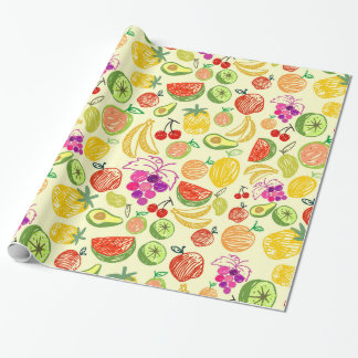 Mixed fruit wrapping paper
