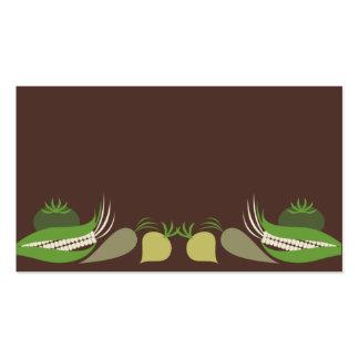 mixed green veggies food business card