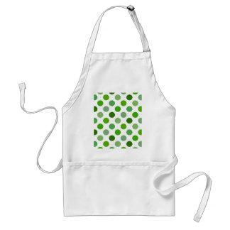 Mixed Greens Polka Dots Adult Apron