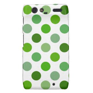 Mixed Greens Polka Dots Droid RAZR Cover