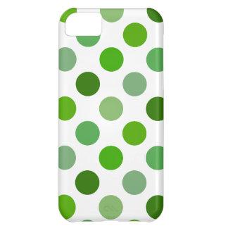 Mixed Greens Polka Dots iPhone 5C Cases