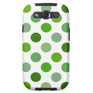 Mixed Greens Polka Dots Samsung Galaxy S3 Cover