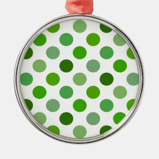 Mixed Greens Polka Dots Ornament