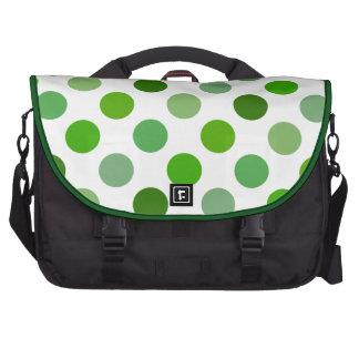 Mixed Greens Polka Dots Laptop Messenger Bag