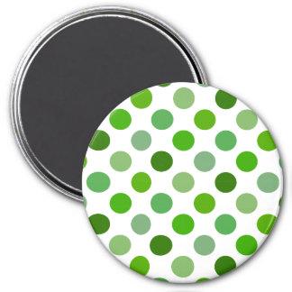 Mixed Greens Polka Dots Fridge Magnets