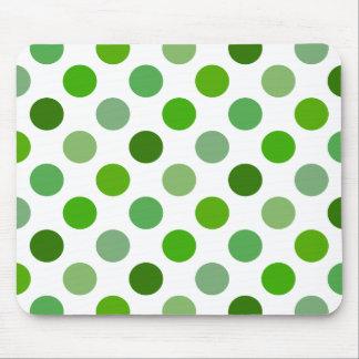 Mixed Greens Polka Dots Mouse Pad