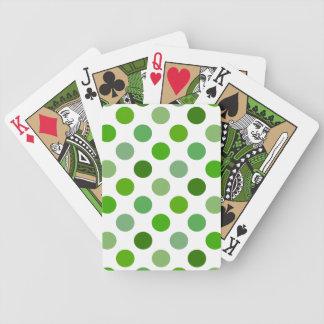 Mixed Greens Polka Dots Card Decks