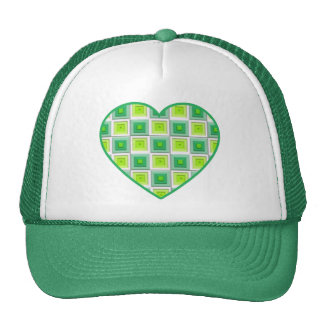 Mixed Greens Squares Heart Cap