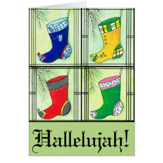 Mixed Hanbok Christmas Stockings Card