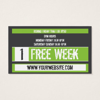 Mixed Martial Art Business Card Free Week Card