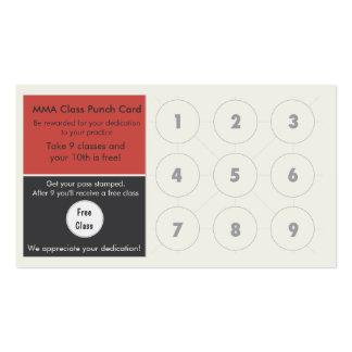Mixed Martial Arts Business Card loyalty card