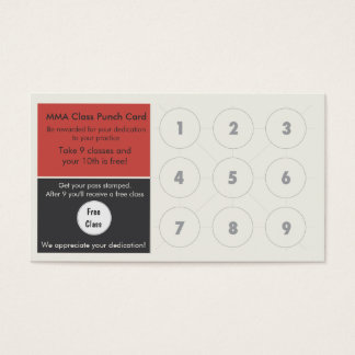 Mixed Martial Arts Business Card loyalty card