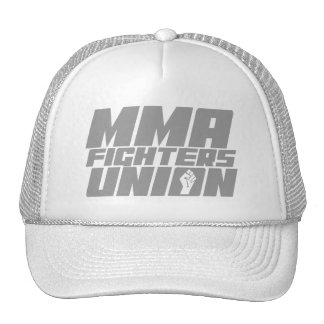 Mixed Martial Arts [MMA] Fighters Union v18 Silver Trucker Hat