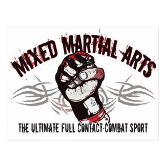 Mixed Martial Arts MMA Postcard