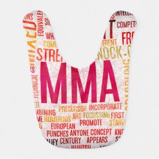 Mixed Martial Arts or MMA as a Grunge Concept Baby Bib