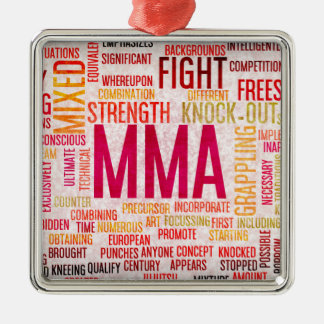 Mixed Martial Arts or MMA as a Grunge Concept Metal Ornament