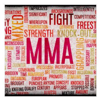 Mixed Martial Arts or MMA as a Grunge Concept Poster