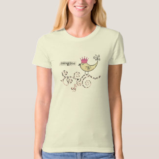 Mixed Media Altered Art Collage Imagine T Shirt