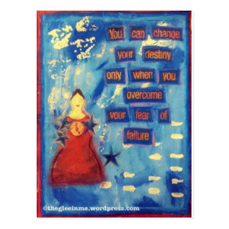 Mixed Media Art print - Fight your fears! Postcard