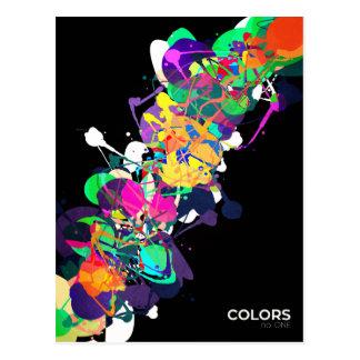 Mixed Media Colors 1 Postcard