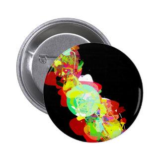 Mixed Media Colors 5 Pinback Button