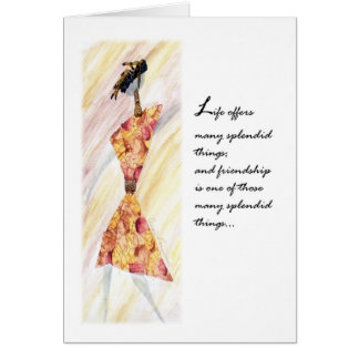 Mixed Media Ethnic Greeting Card