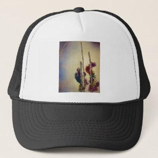 "Mixed media ""feather tree"" mixed media for fun trucker hat"