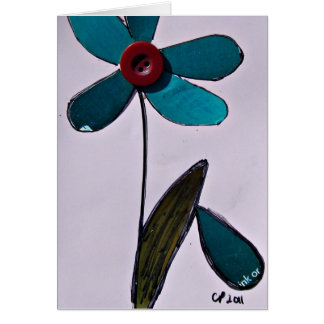 Mixed Media Flower Greeting Card