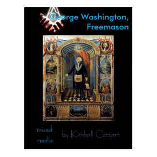 Mixed Media: George Washington, Freemason Postcard